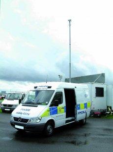PT5 mast fitted to Police cctv vehicle